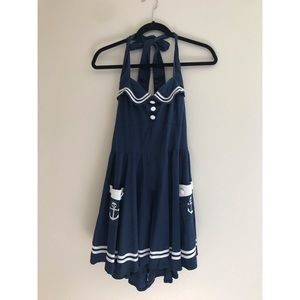 Hot Topic Fitted Sailor Girl Dress